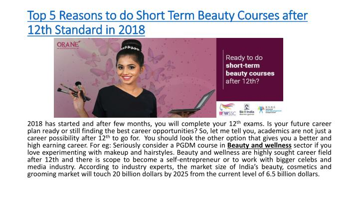 top 5 reasons to do short term beauty courses after 12th standard in 2018 n.