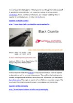 imperial exports india supplier of black granite