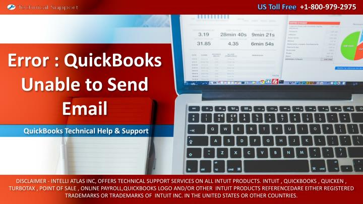 error quickbooks unable to send email n.