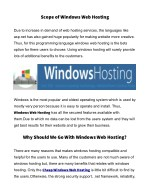 scope of windows web hosting