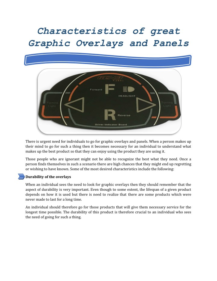 characteristics of great graphic overlays n.