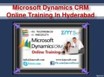 microsoft dynamics crm online training in hyderabad