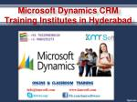microsoft dynamics crm training institutes in hyderabad