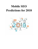 mobile seo predictions for 2018