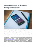 seven quick tips to buy real instagram followers