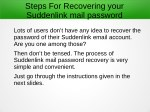 steps for recovering your suddenlink mail password