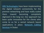 vrs technologies have been implementing
