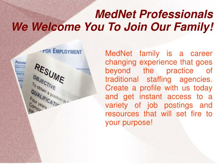 mednet professionals we welcome you to join our family n.