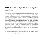 10 modern italian style kitchen design for your