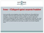 avows a safeguard against corporate fraudulent