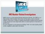 imei number related investigations