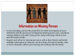 information on missing person