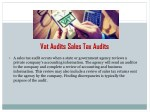 vat audits sales tax audits
