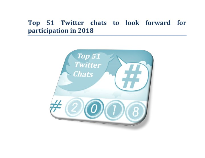 top 51 twitter chats to look forward n.