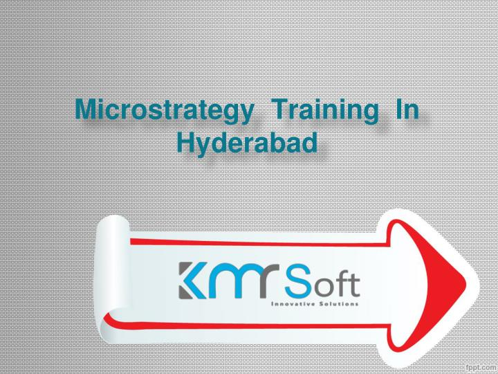 microstrategy training in hyderabad n.