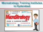 microstrategy training institutes in hyderabad