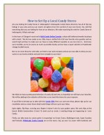 how to set up a local candy stores