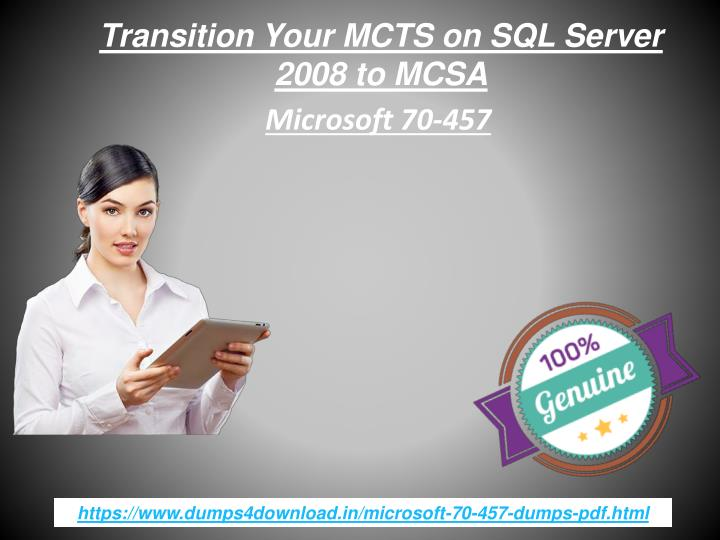 transition your mcts on sql server 2008 to mcsa n.