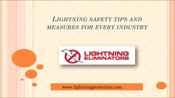 lightning safety tips and measures for every industry n.