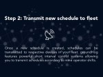step 2 transmit new schedule to fleet 1