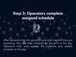 step 3 operators complete assigned schedule 1