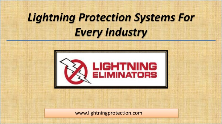 lightning protection systems for every industry n.