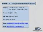 contact us independent benefit advisors