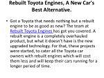 rebuilt toyota engines a new car s best alternative 1