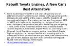 rebuilt toyota engines a new car s best alternative 4