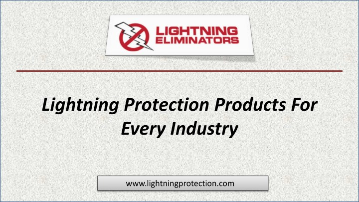lightning protection products for every industry n.