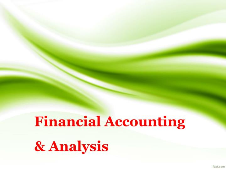 financial accounting analysis n.