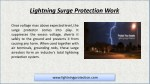 lightning surge protection work