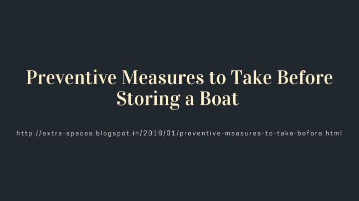 preventive measures to take before storing a boat n.