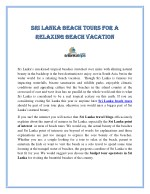 sri sri l lan r relaxing beach vac elaxing beach
