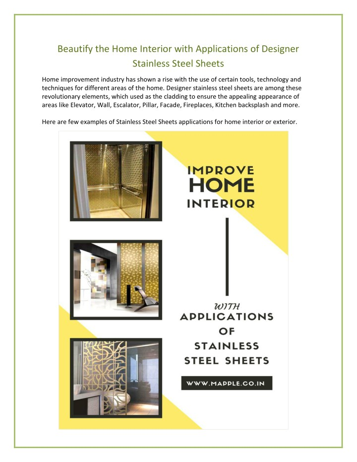 beautify the home interior with applications n.