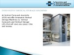 innovative vertical storage machines