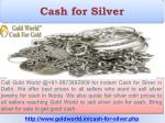 cash for silver