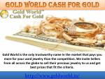 gold world cash for gold