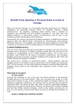 benefit from opening a personal bank account