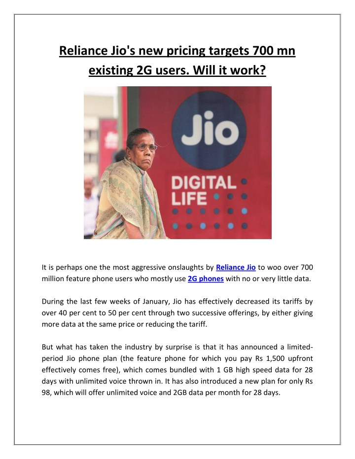 reliance jio s new pricing targets n.