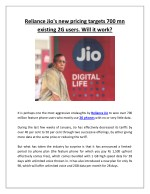 reliance jio s new pricing targets