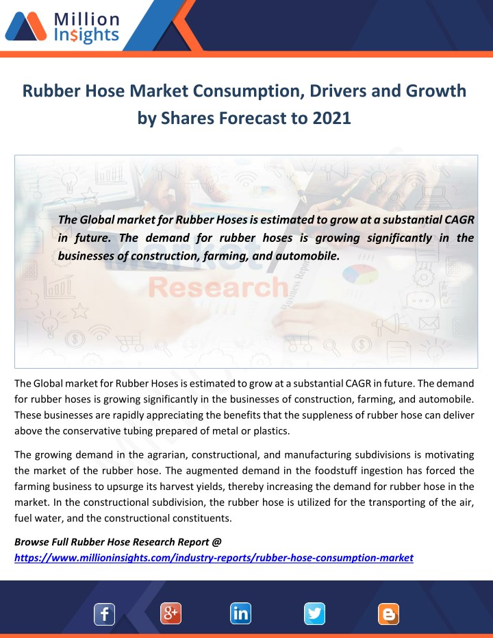 rubber hose market consumption drivers and growth n.