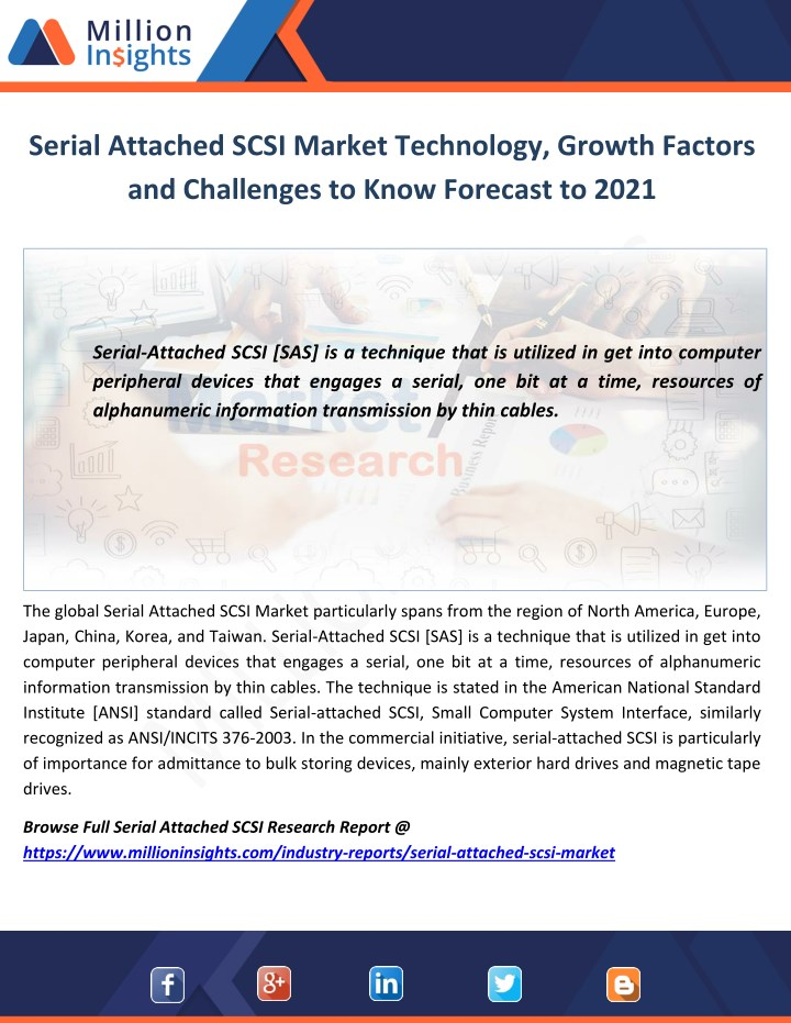 serial attached scsi market technology growth n.