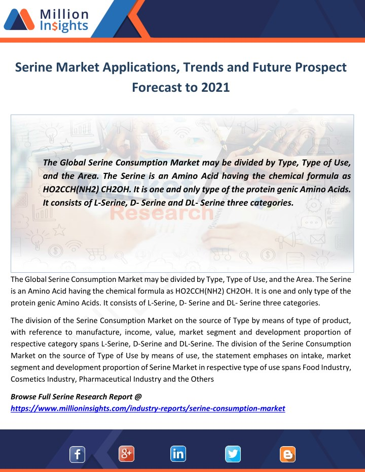 serine market applications trends and future n.