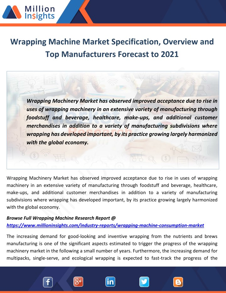 wrapping machine market specification overview n.