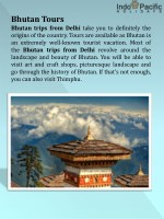 bhutan tours bhutan trips from delhi take