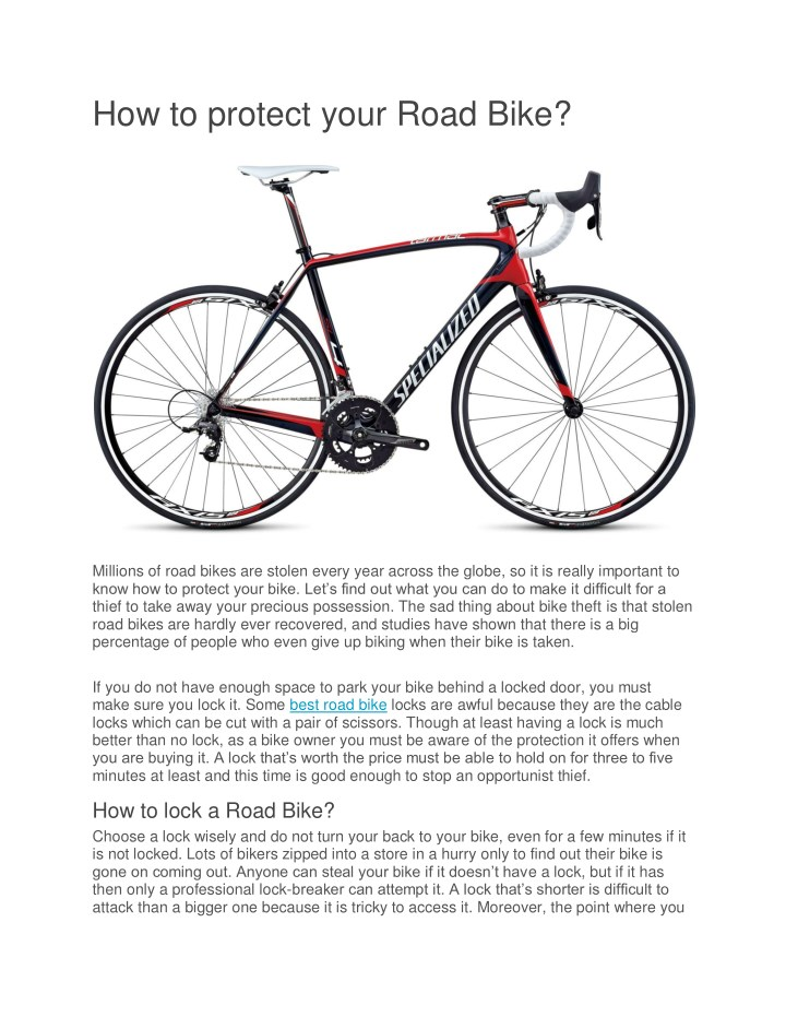 how to protect your road bike n.