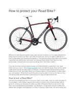 how to protect your road bike