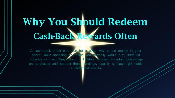 why you should redeem n.
