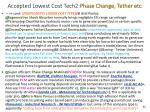 accepted lowest cost tech2 phase change tether etc
